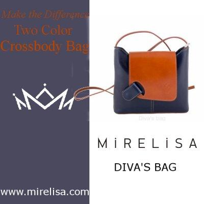 Isabella Women Calf Leather Flap Crossbody Bag